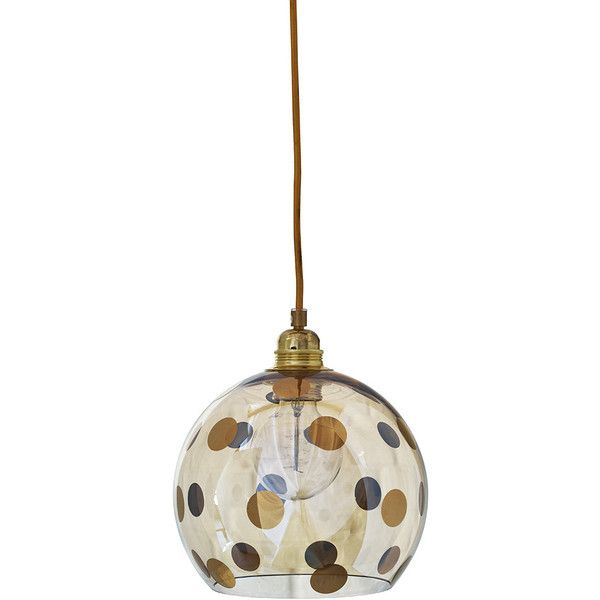 Ebb & Flow Rowan Pendant Lamp - Gold Dots - 22cm ($258) ❤ liked on Polyvore featuring home, lighting, ceiling lights, metallic, polka dot lamp, contemporary lighting, contemporary ceiling lighting, contemporary modern lighting and gold lamp