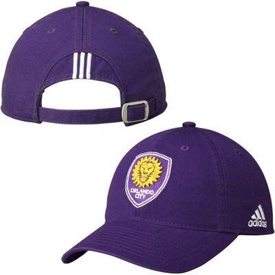 07fe3a1e0ee Men s Orlando City SC adidas Purple Slouch Adjustable Hat