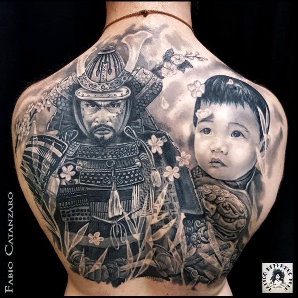 By @fabio.catanzaro #tattoodefender #tattoodefenderteam #tattoodefenderaftercare #black&grey #loveyour #tattoo #tattooed #ink #inked #realistic #realistictattoo #realisticink #portrait #portraittattoo #oriental #orientaltattoo #blackandgreytattoo #samurai #samuraitattoo #backtattoo #tattoolife #inkmagazine #tatuaggio #tatuaggiorealistico #tatuaggiobiancoenero #ritratto #orientale