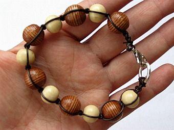 Leather Cord Macrame Bracelet