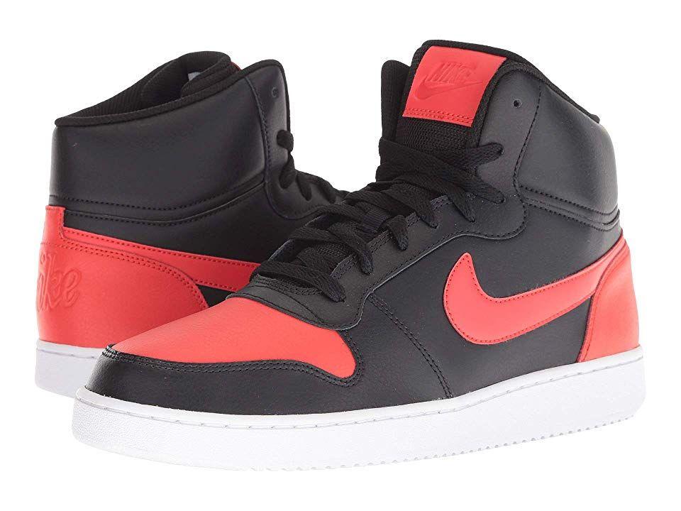Nike Ebernon Mid (Black/Habanero Red