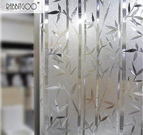 Rabbitgoo 3d non adhesive static illuminative decorative for Pellicule fenetre home depot