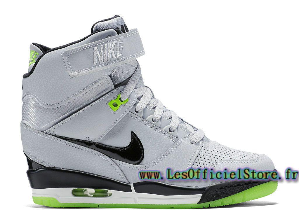 new style 796ba 90a85 Officiel Nike Air Revolution Sky Hi GS Chaussures Nike 2017 Pas Cher Pour  Femme Gris Vert