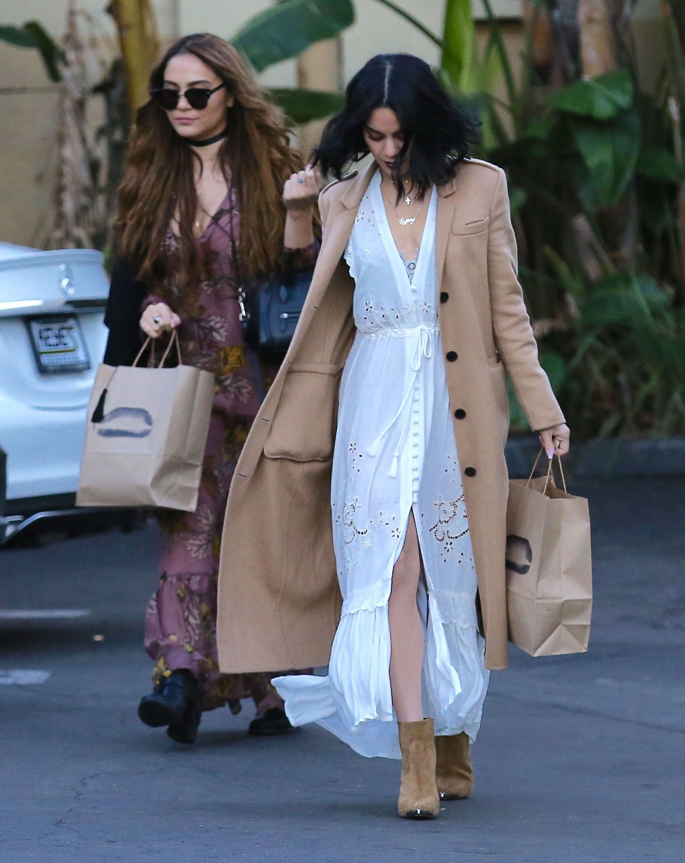 Vanessa and Stella Hudgens Out in Studio City, 12/24/15