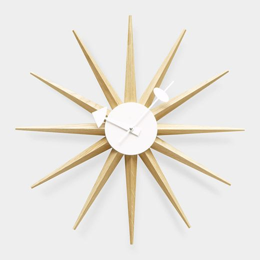wall clocku0027 in natural wood designed by george nelson by vitra