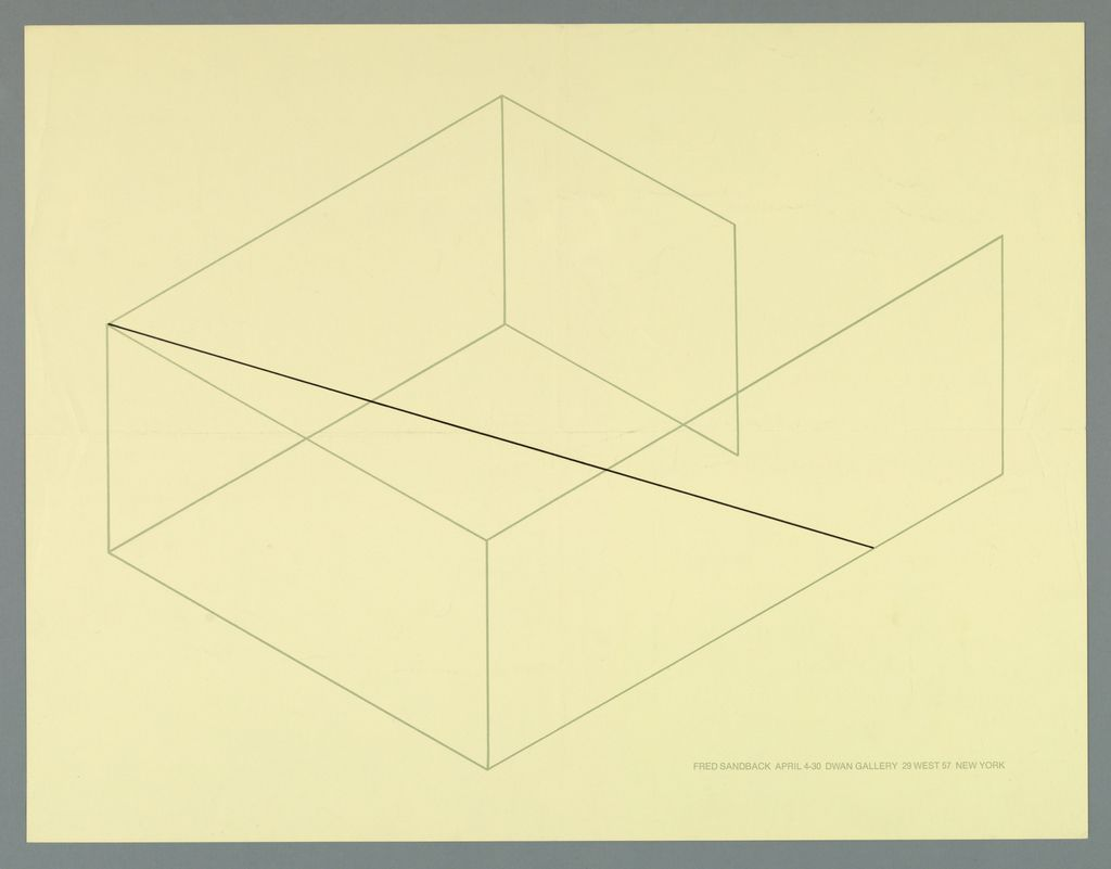 Fred Sandback, Exhibition Poster, Dwan Gallery, New York, 1970