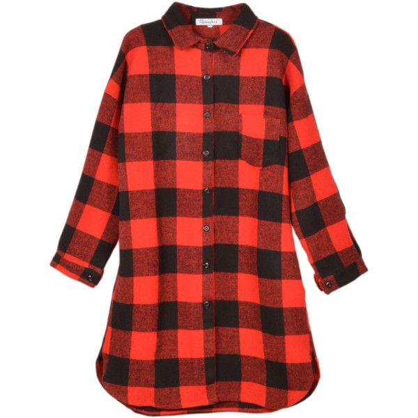 Relaxfeel Women's Loose Red Plaid Shirt Red (€35) ❤ liked on Polyvore featuring tops, shirts, flannels, red, loose fitting tops, red tartan shirt, cut loose shirt, loose shirt and red plaid shirt
