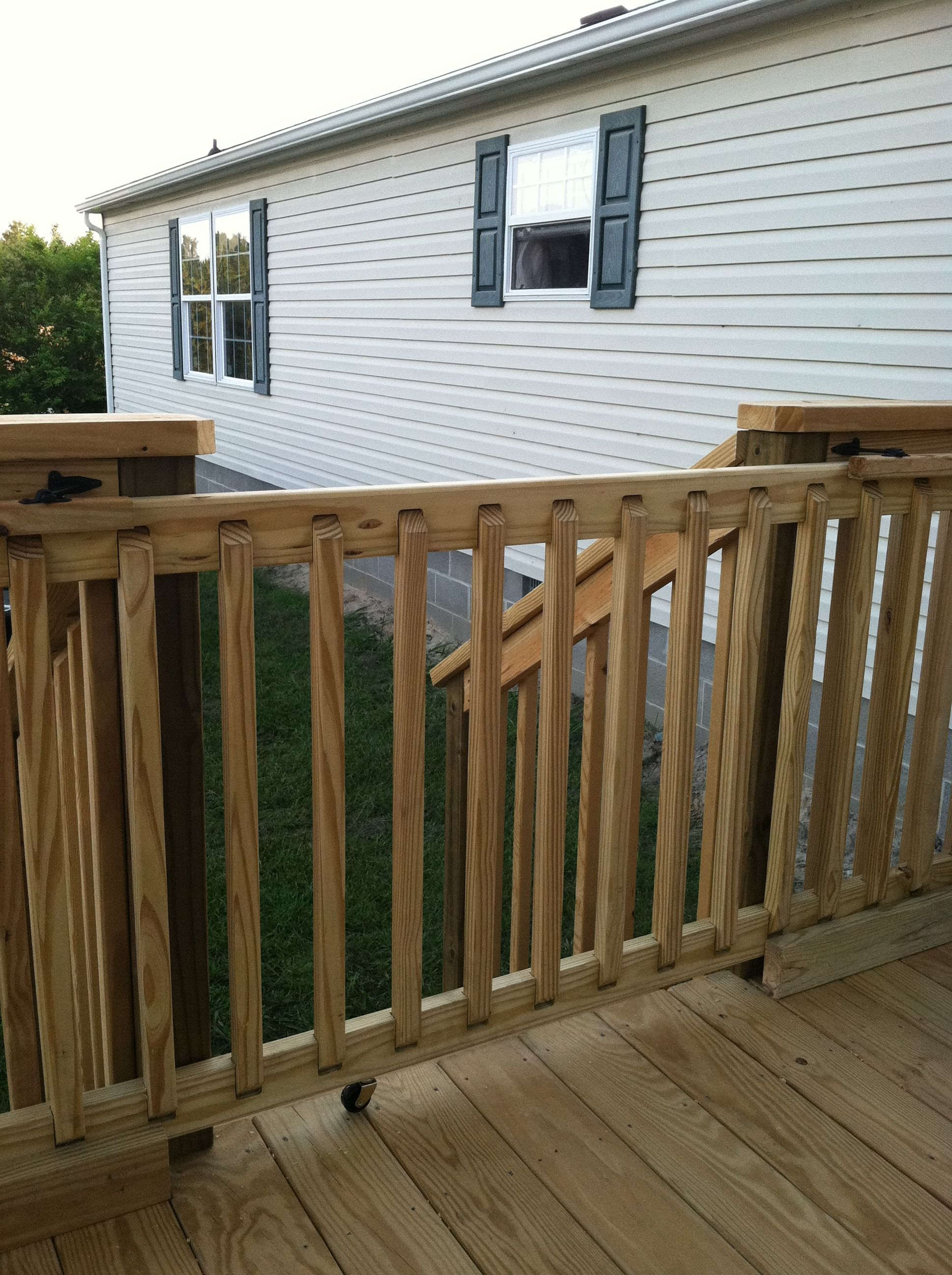 Diy Sliding Deck Gate Sliding Gate For Deck Manufactured Home Remodel Deck Gate