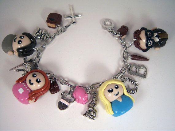 Buffy the Vampire Slayer Charm Bracelet cross Vampire Fangs charm bracelet