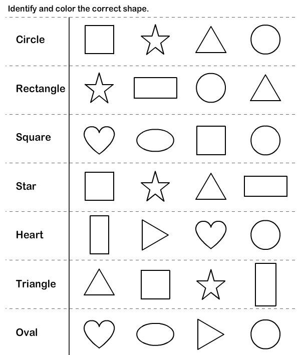 shapes kindergarten worksheets | Shapes kindergarten ...