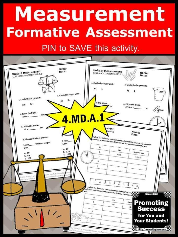Measurement Conversions 4th Grade Math Review Worksheets, Measuring ...