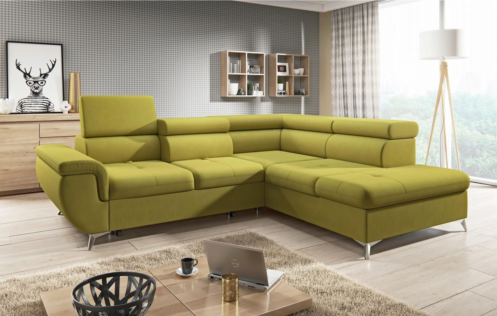Wohnlandschaft In Gelb Mit Bettfunktion In 2019 Living Room