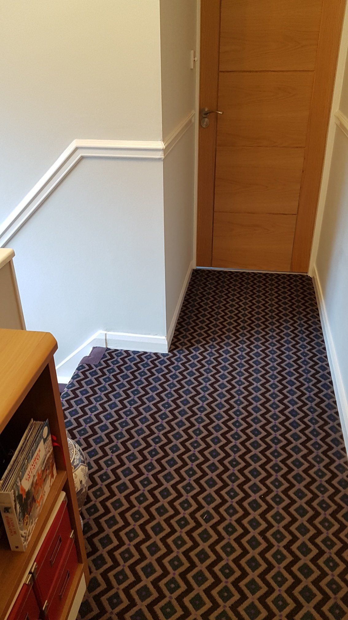 Best Axminster Carpets Funky Geometric Gorgeous Plum Stair 400 x 300