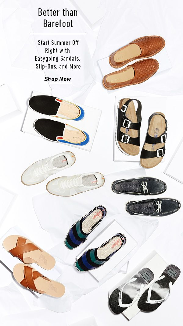 Easygoing Sandals, Slip-Ons