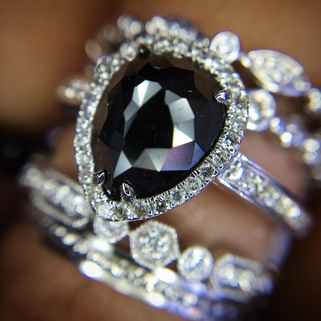 Black Diamond Collection @cobymadisonjewelry Black Diamond Engagement Ring @cobymadisonjewelry 15710 Whittwood Lane #whittier #CA #shoplocal