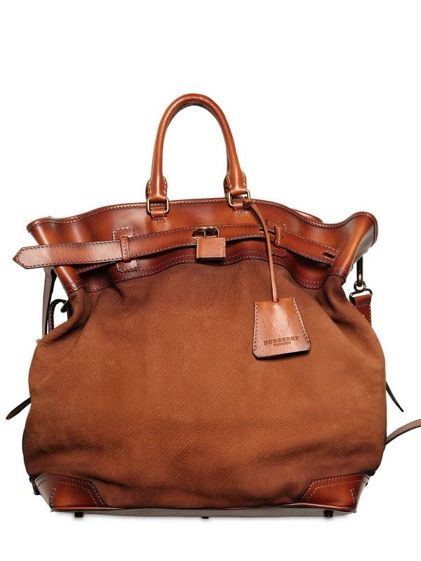 Burberry Prorsum Tarnished Nubuck Leather Bag in Brown for Men ... a3f752f25e6c2