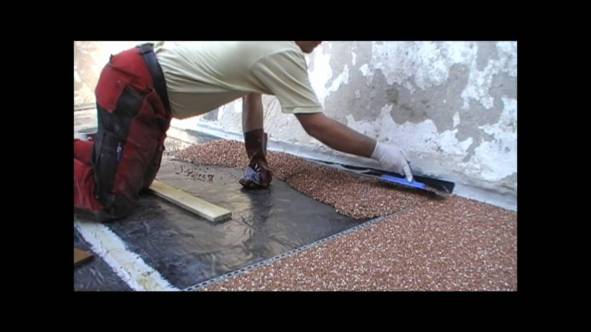 gestaltung einer kiesel terrasse mit durchsichtigem kunststoff epoxidharz garten wege. Black Bedroom Furniture Sets. Home Design Ideas