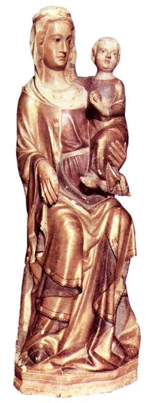 Scurcola Marsicana, Madonna di S. Maria della Vittoria, scultura lignea, fine sec. XIII-inizi sec. XIV
