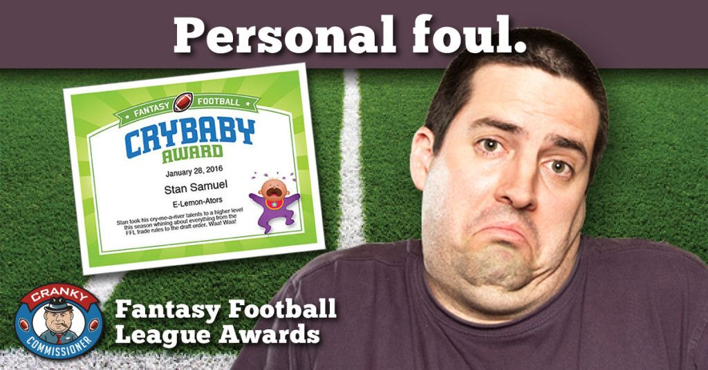 Fantasy Football Award Certificates for every owner in