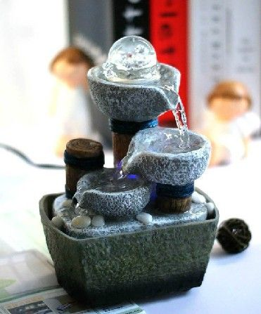 Small Fountain Water Features Feng Shui Wheel Desktop Decoration