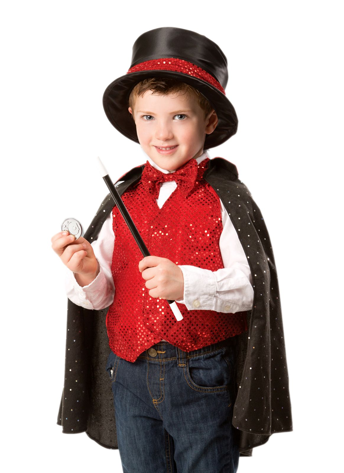 For your child that loves to play with magic give them the Magician Role Play Costume Set to embody their new role! Shop this set at Melissa u0026 Doug.  sc 1 st  Pinterest & Childu0027s Magician Costume with Top Hat | fall | Pinterest | Costumes ...