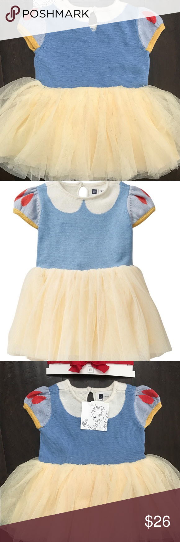 7116e87c7ae7 Disney for Baby Gap Snow White Dress and Headband Disney for Baby ...