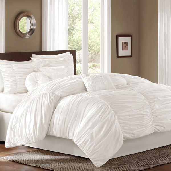 White comforter  bed bath and beyond | Bedroom decor, Comforter