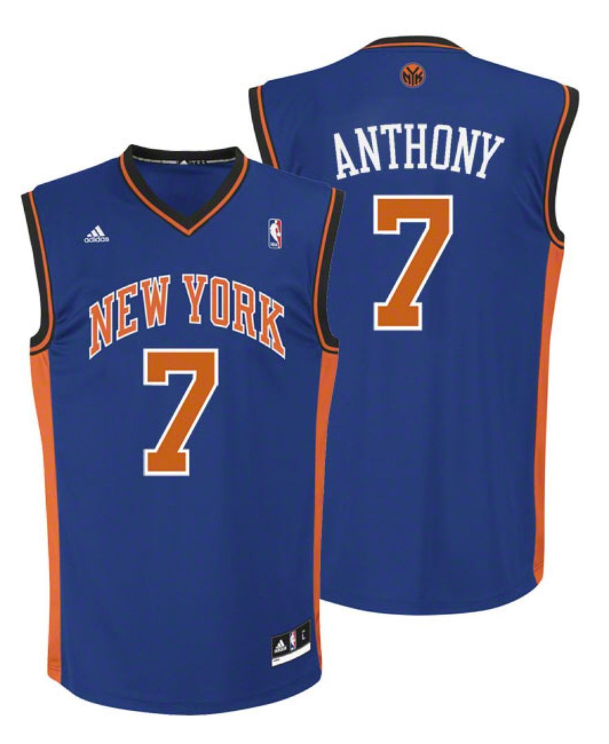 bac71b88445 adidas Kids  Carmelo Anthony New York Knicks Replica Jersey ...