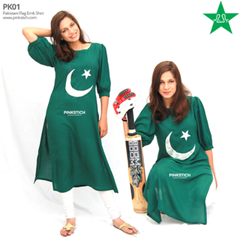 Pinkstich Pakistani Flag Shirts Outfits 2014 For Young Girls 1 Pinkstich Pakistani Flag Shirts Outfits 2014 For Young Girls