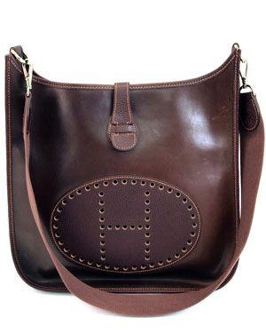 Hermes Brown Veau Graine Coucherel 'Evelyn' Shoulder Bag