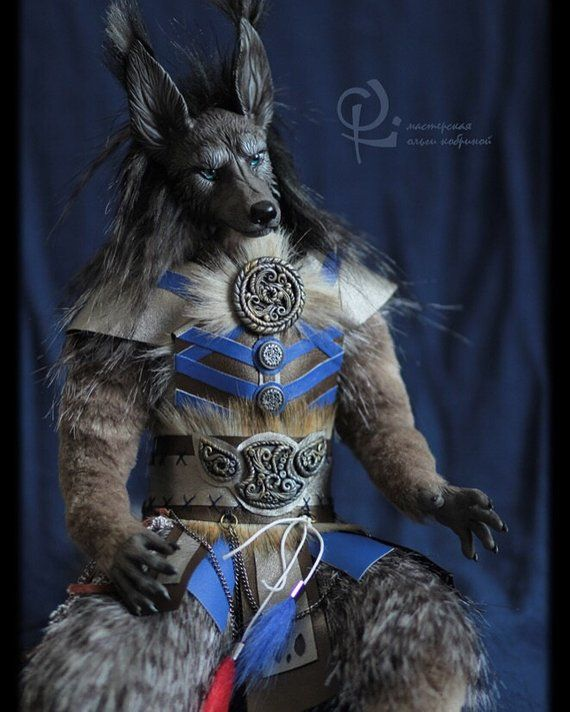 To Order Wolf Anthro Werewolf Art Doll Ooak Toy Realistic Toy