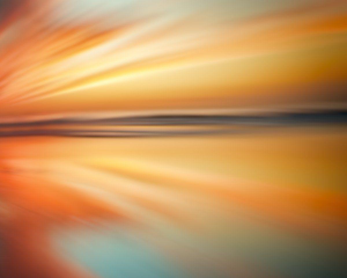 Ocean Beach Sunset Abstract Wall Art Decor Modern Abstract Extra ...