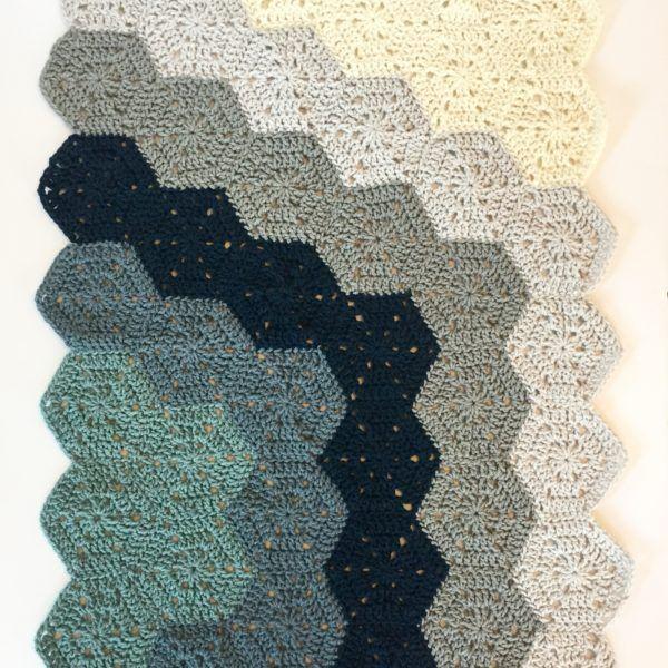 Hexi Chunky Baby Blanket Crochet Pattern by Little Monkeys Design ...