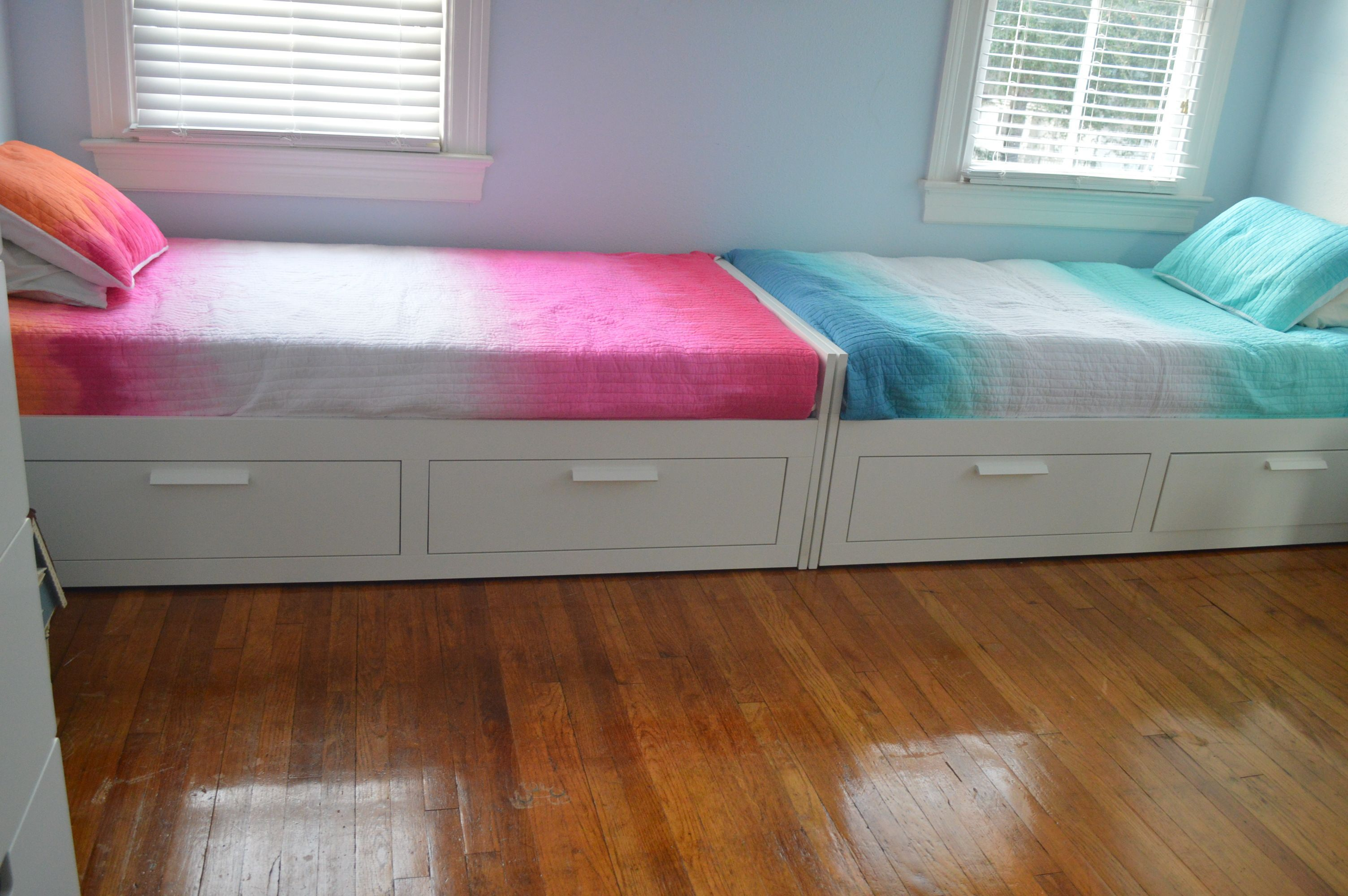 Brimnes Twin Beds From Ikea Cynthia Rowley Ombre