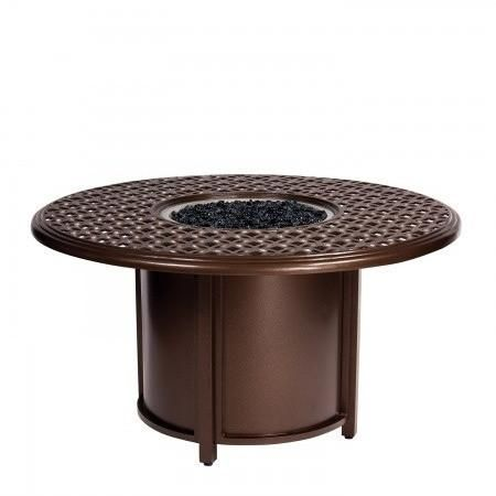 Casa 48 Quot Round Chat Height Fire Table And Round Burner