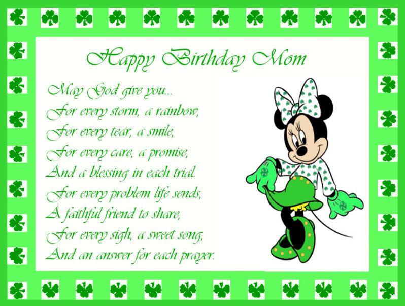 Need Help With An Irish Birthday Card Asap Irish Birthday Happy Birthday Mom Birthday Cards