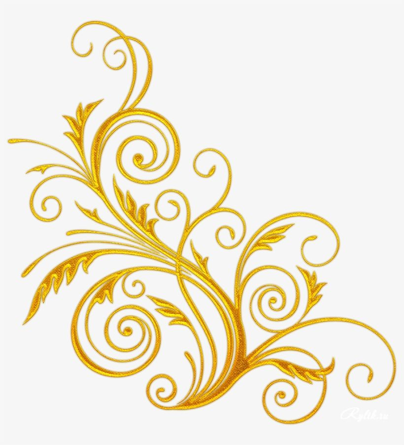 Download High Quality Golden Vector Swirl Png Line Art Floral Design Png Image For Free And Share The Creative Transparent Png Pi Floral Art Line Art Swirls