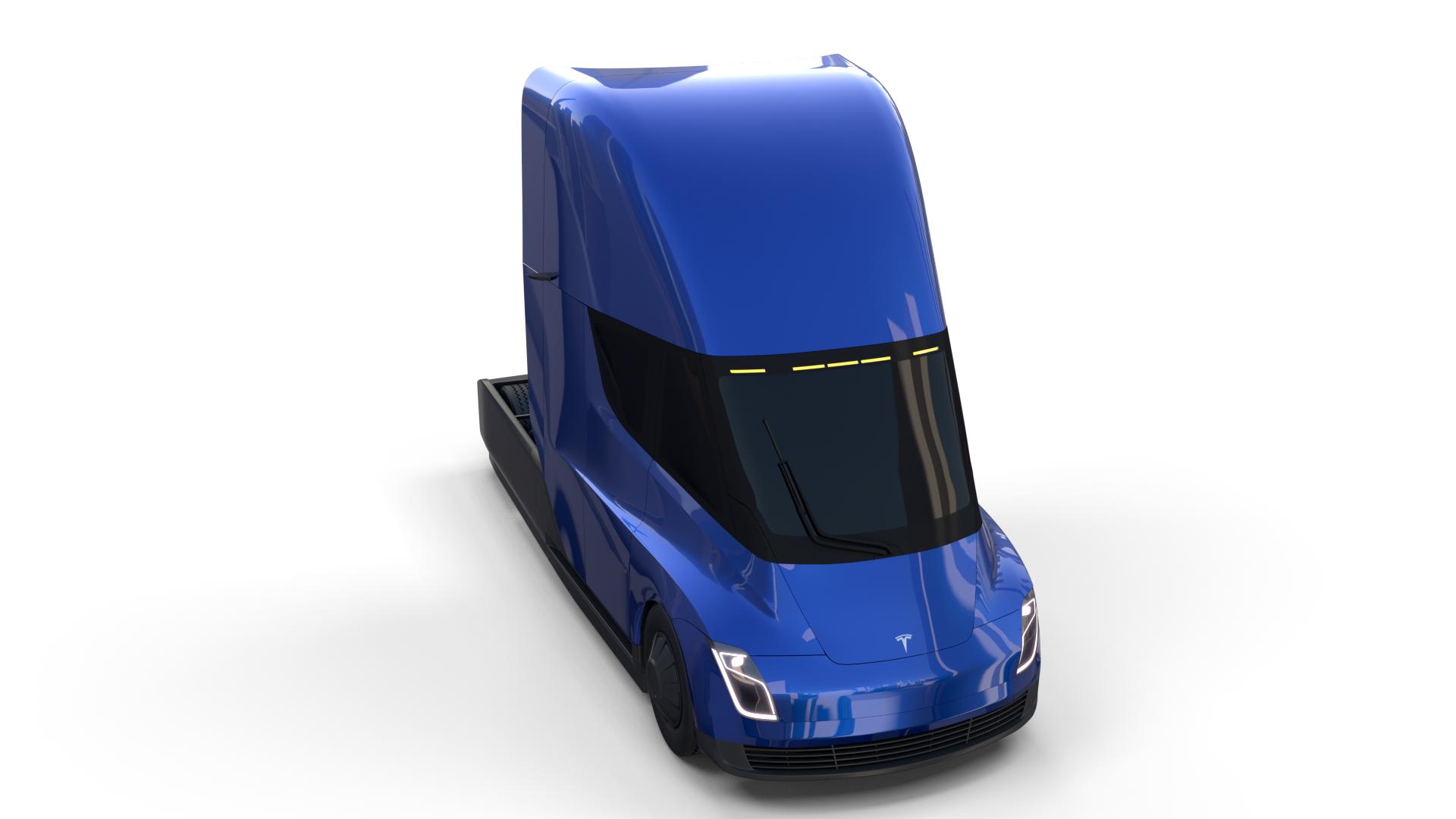 Tesla Truck Blue Ad Tesla Truck Blue Tesla Trucks Blue