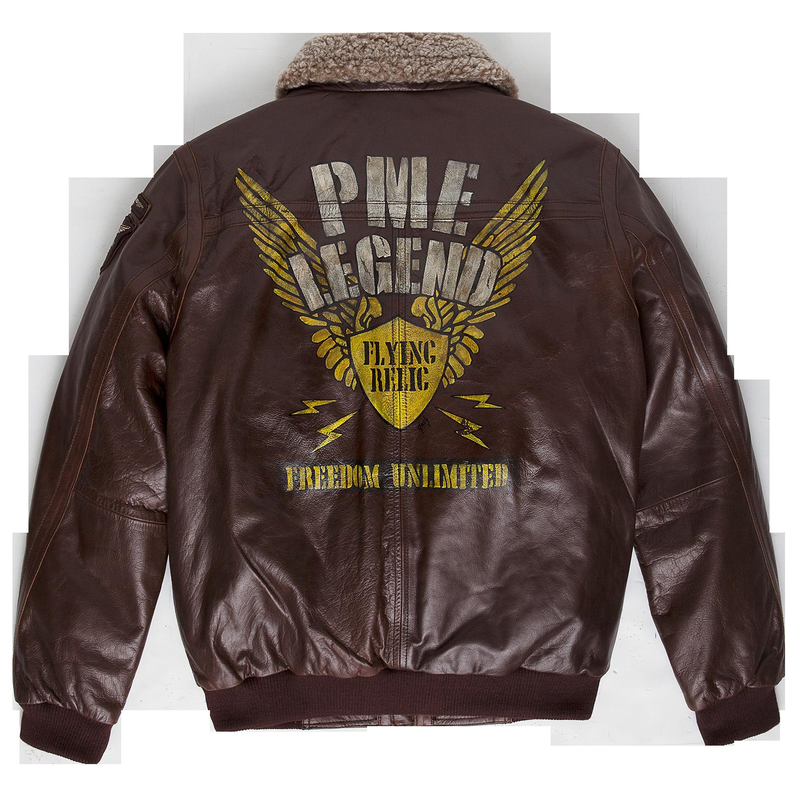 Type 4 Original Pme Legend Leather Hudson Bomber Jacket Flying Relic Hand Painted Nose Art Seri Leather Flight Jacket Flying Jacket Leather Bomber Jacket [ 1600 x 1600 Pixel ]