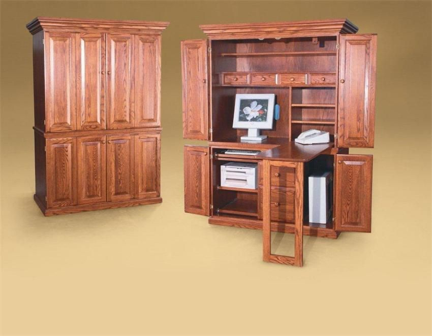 home office armoire. Amish Office Furniture Classic Computer Armoire- Great Idea For Folding Desk Top Home Armoire S
