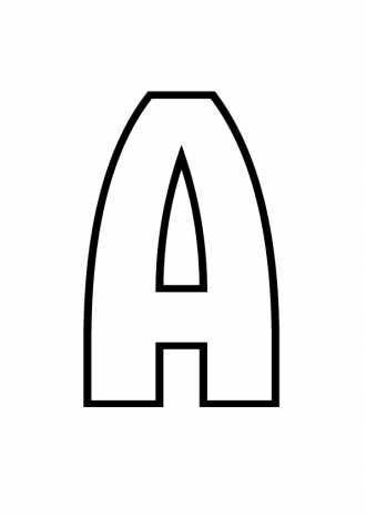 Буква А - раскраска, распечатать бесплатно | Раскраски ...