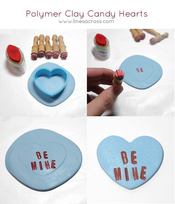 Lines Across: DIY Clay Candy Hearts