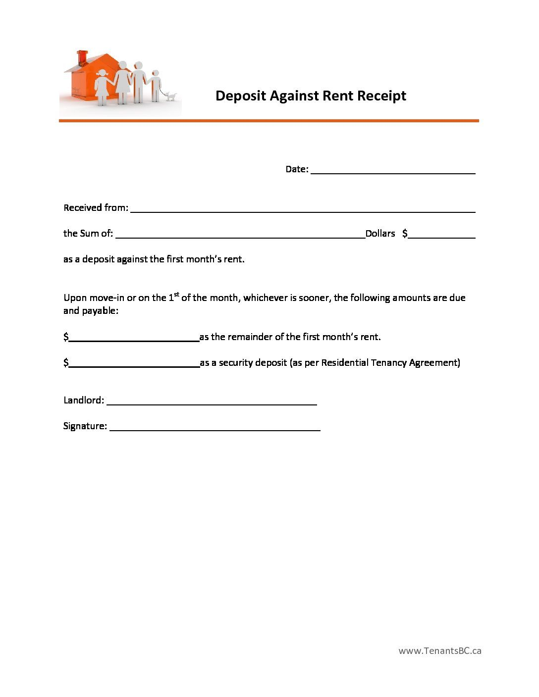 Free Rent Receipt Template And What Information To Include  The