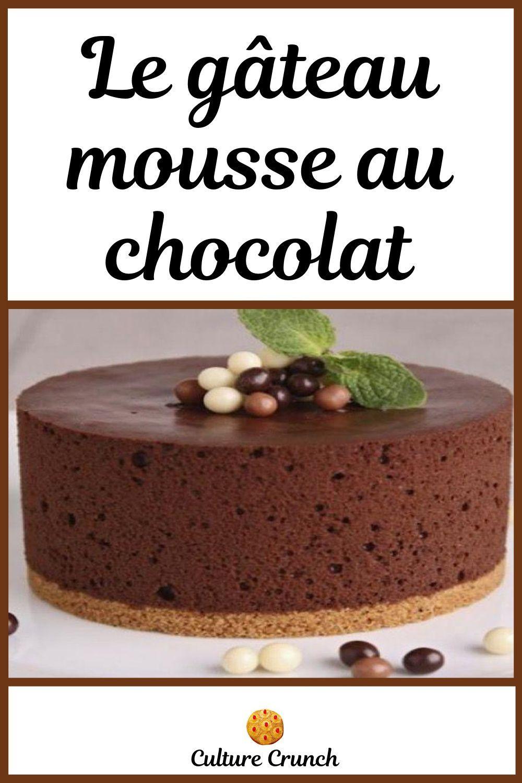 Gateau Mousse Au Chocolat La Recette Facile En 2020 Gateau Mousse Gateaux Et Desserts Tutoriel Pour Faire Des Gateaux