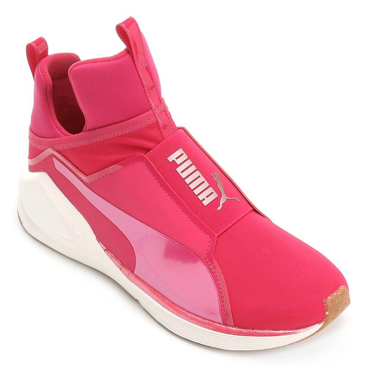 e6119a79f561f Tênis Puma Fierce Vr Feminino - Rosa e Branco in 2019 | Style ...