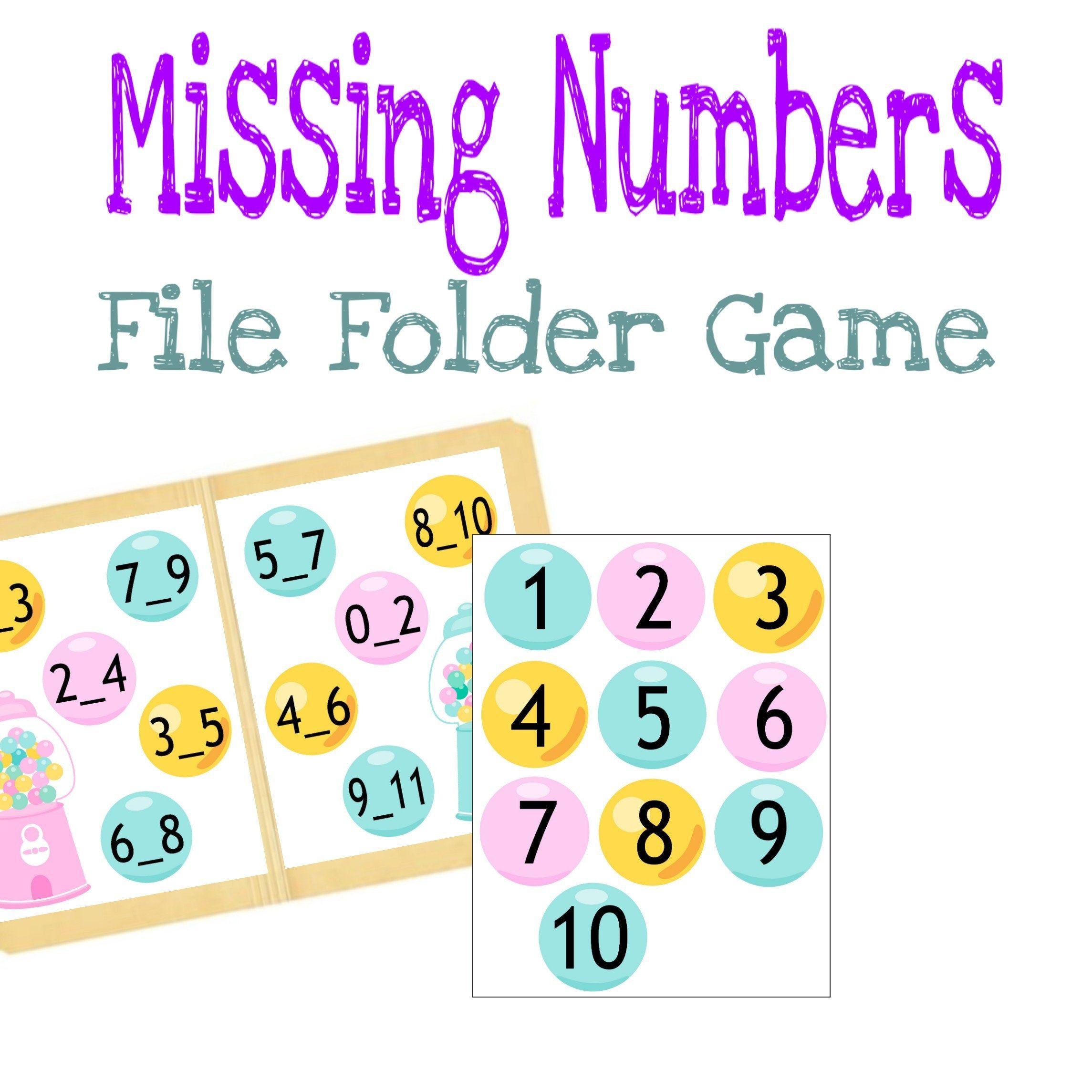 Missing Numbers Printable Worksheet Quiet Busy Book