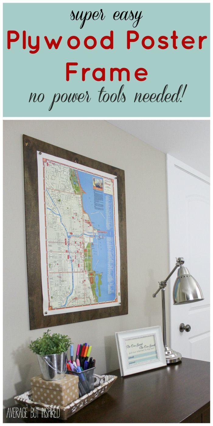 DIY Plywood Poster Frame (Monthly DIY Challenge)