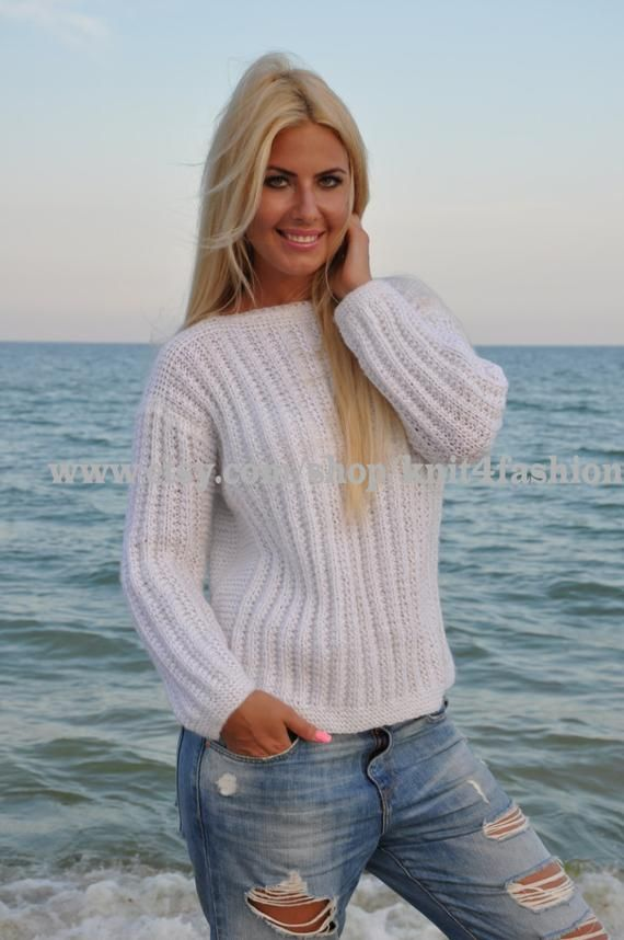 Handmade Sweater, Chunky Knit Jumper, Baggy Jumper, Chunky Knit Sweater, Spring Sweater, Knitted Jumper, Knitted Sweater, White Knit Sweater