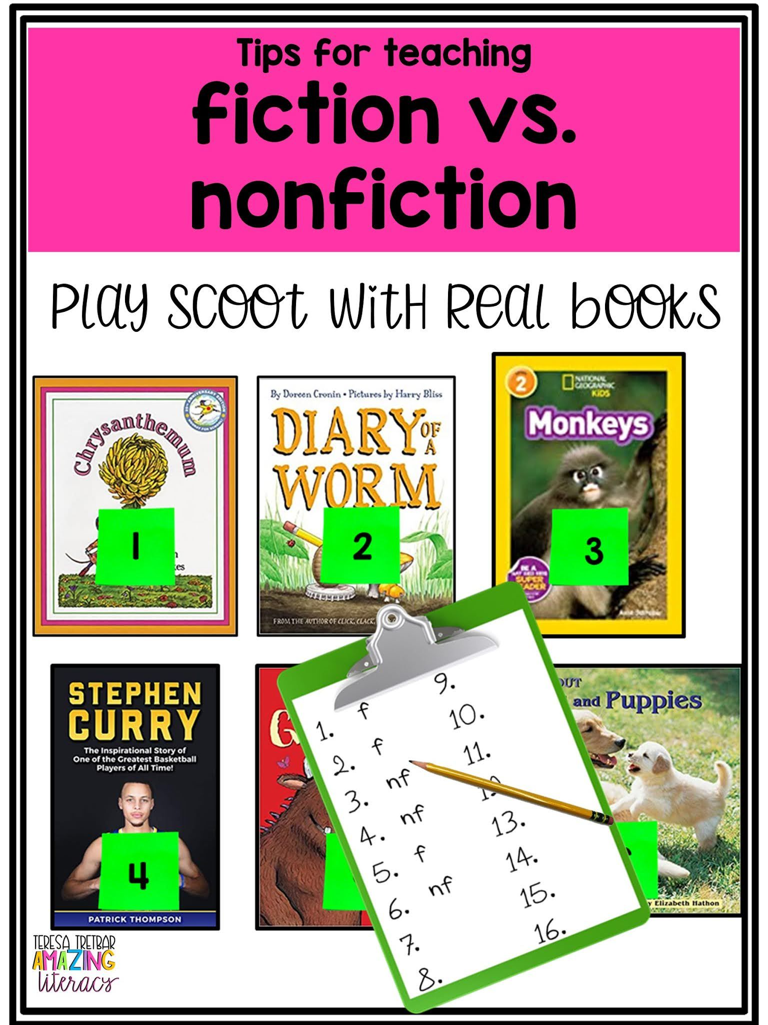 4 Tips For Teaching Fiction Vs Nonfiction In