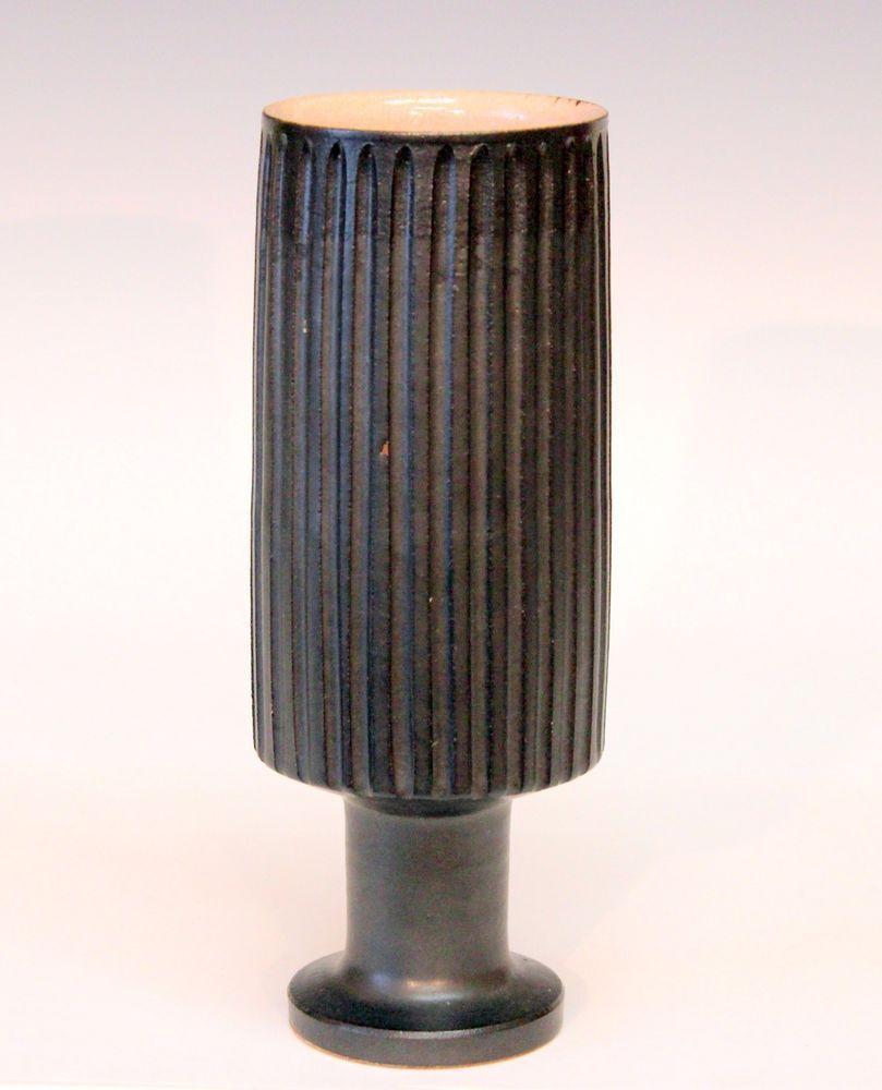 Vintage japanese studio pottery mcm mid century vase fluted vintage japanese studio pottery mcm mid century vase fluted ikebana signed japanesestudiopottery reviewsmspy